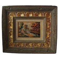 Vintage Limoges Enamel on Copper Plaque Signed & Framed