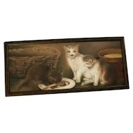 Vintage Pastel Chalk Drawing of an Original Victorian Painting