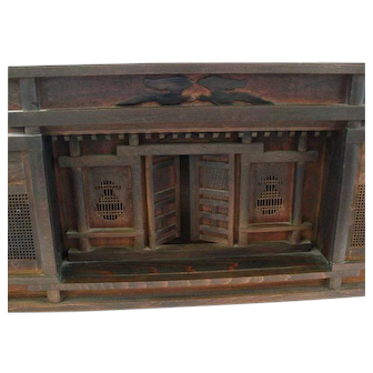 Vintage Chinese Handmade Tabletop Prayer Alter