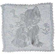 Vintage Square Hand Crochet Kitty Doily