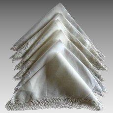 Twelve Vintage Linen & Cotton & Lace Handkerchiefs