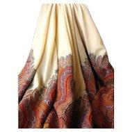 Very Vintage & Very Beautiful Woven Wool Paisley Shawl
