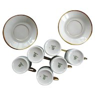 Vintage Six Espresso Demitasse Cups & Saucers / Hutschenreuther Selb