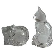 Glass Cats Salt & Pepper Shakers