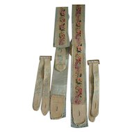 19TH Century Gentleman's Silk Backed Needlepoint Canvas  Suspenders/Braces