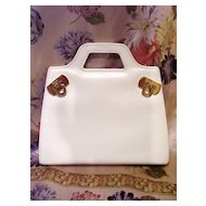 Salvatore Ferragamo Mini Purse - White Leather - Made in Italy