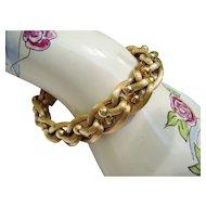"""18 Kt. Gold Italian Link Bracelet -  Marked 750 - Vintage 1960 - 32.3 Grams - 7-7/8"""""""