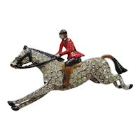 Trifari Riding Jockey Figural Pin - Vintage 1938 - Rare Brunialti Book Piece