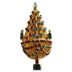 Warner Vintage Christmas Tree Pin