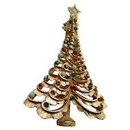 Boucher Vintage Christmas Tree Pin