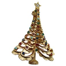 Boucher Vintage Christmas Tree Pin