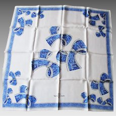 """Van Cleef & Arpels - Paris - Parfums -  Silk Twill Scarf  Jewelry Design - Made in Italy 33 x 34"""" Square"""