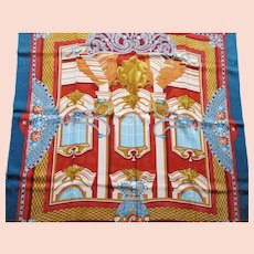 Must de Cartier Silk Scarf - Jacquard Crepe de Chine - Belle Epoque Jewelry Designs - 1994 Scarf Collection