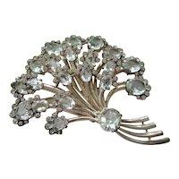 Eisenberg Sterling Brooch - Rare Bouquet Pin - Vintage 1945 - Book Piece -  74.1 Grams