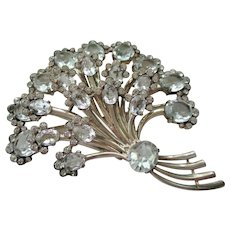 Eisenberg Sterling Brooch - Vintage Bouquet Pin - 1945 - Book Piece -  74.1 Grams