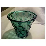 Oreffors SP14 Green DECO Diamonds Vase