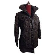 Mod Boho Persian Broadtail lamb DarkBrown Fur leather stroller jacket