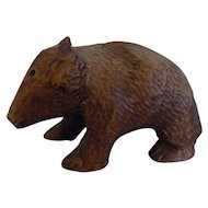 Folk art amish Canadian mennonite Wood Carved Bear
