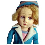 Lenci Girl doll with coat and hat