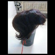 Short Brown English mohair wig