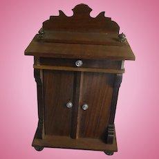 Antique German Dollhouse Cabinet