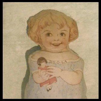 Sweet old DY-O-LA DYE Printed Cloth Doll