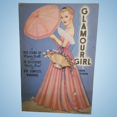 1941 Queen Holden Glamour Girl Paper Doll Book Uncut