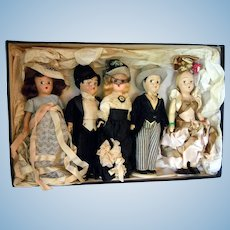 Nice Box of Dolls Late 30's/40's