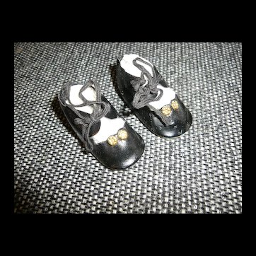 Nice pair of Black Oil Cloth Shoes