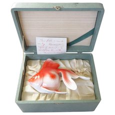 Large Vintage Noritake Nippon Fish in Presentation Box w Provenance