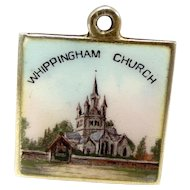 Victorian Silver Gilt & Enamel WHIPPINGHAM Church Charm