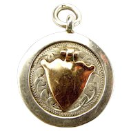 Vintage 1929 Silver & 9ct Gold FOB Charm PENDANT