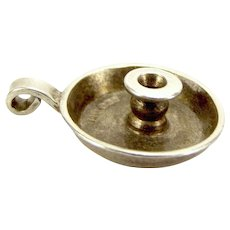 Vintage Silver Go To Bed CaNdLeStIcK Charm 1947 GAP