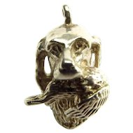 Vintage German 835 Silver Charm HUNTING DOG With GAME BIRD In Mouth