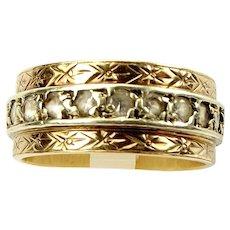 Vintage 9ct Bi Colour Gold ETERNITY Ring Paste Set 1930's