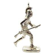 OOAK Vintage Silver SOLDIER Charm FOB Pendant
