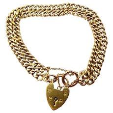 VICTORIAN 9ct Gold Double ALBERT Chain Charm Bracelet