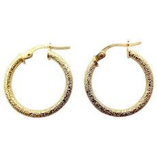 Vintage 9ct Gold Hoop EARRINGS Italian