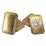 Vintage 9ct Gold CUFFLINKS Hmk Chester 1946