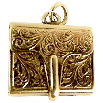 Victorian 9ct Gold MOURNING LOCKET Opens Hair