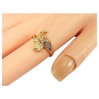 Vintage 21ct Gold SNAKE Or SERPENT Ring Paste Set