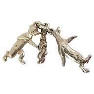 1920's Vintage Silver Charm PIP SQUEAK & WILFRED Cartoon Characters