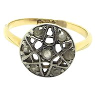 VICTORIAN 18ct Gold & Diamond Star Of David RING