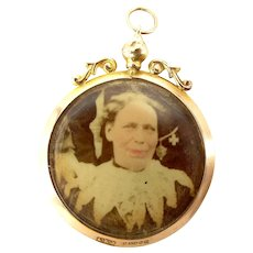 1896 Victorian 9ct Gold Double Sided Picture LOCKET