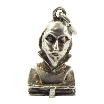 Vintage Silver Charm The Works Of SHAKESPEARE Book Opens