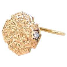 Antique Victorian TOYE 9ct Rose Gold & DIAMOND Ring Stickpin Project