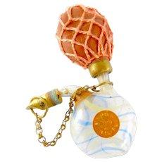 Antique Hand Blown Vapo Liliput Glass Perfume ATOMIZER In Pouch