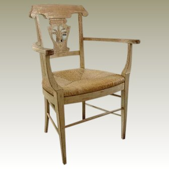 Shabby Chic Painted French Style Armchair C. 1990's