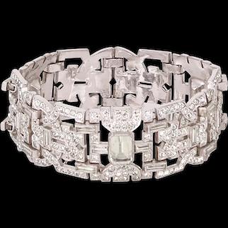 Sensational Engel Brothers  Art Deco Rhinestone Bracelet