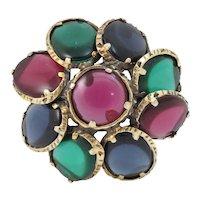 Trifari Renaissance Collection Jewel Tones Pin/Pendant
